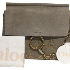 Chloe Bags - CHLOE Faye' Studded Calfskin Shoulder Bag